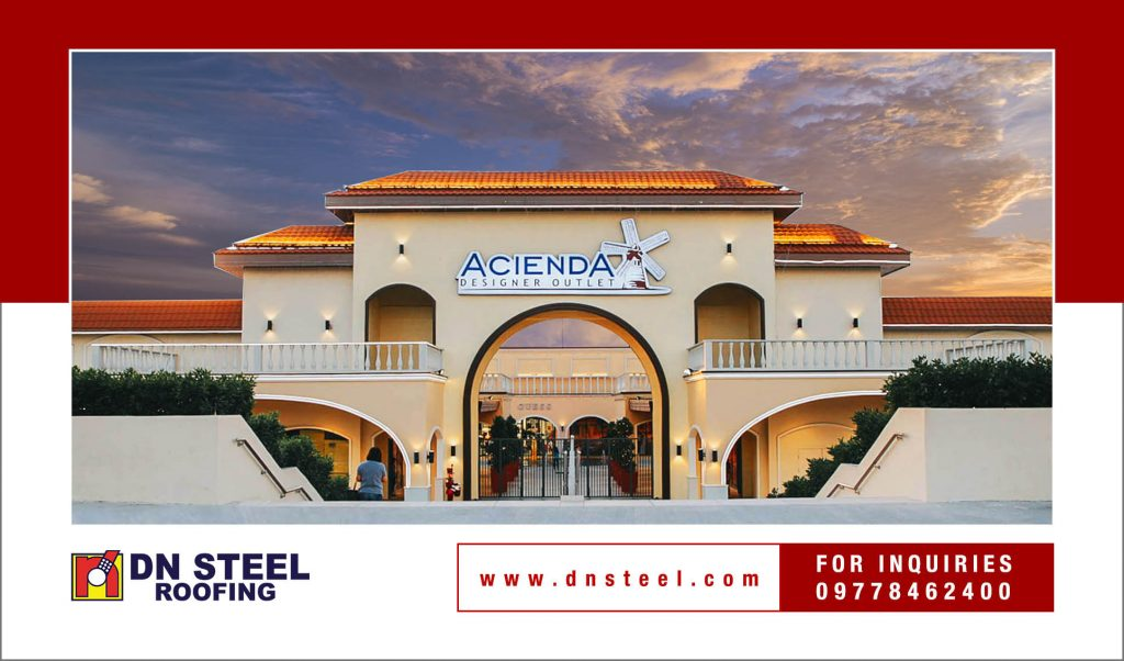 DN Steel features Acienda Designer Outlet in Cavite as one of its finished projects using the DN Super Hi-Rib 50, one of the bestselling profiles. It is feasible for commercial and industrial projects.