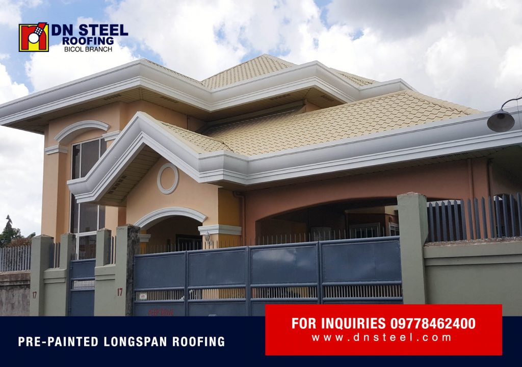 This Residential Project in Naga City using Victorian Tile Roof is a finished project of DN Bicol branch.